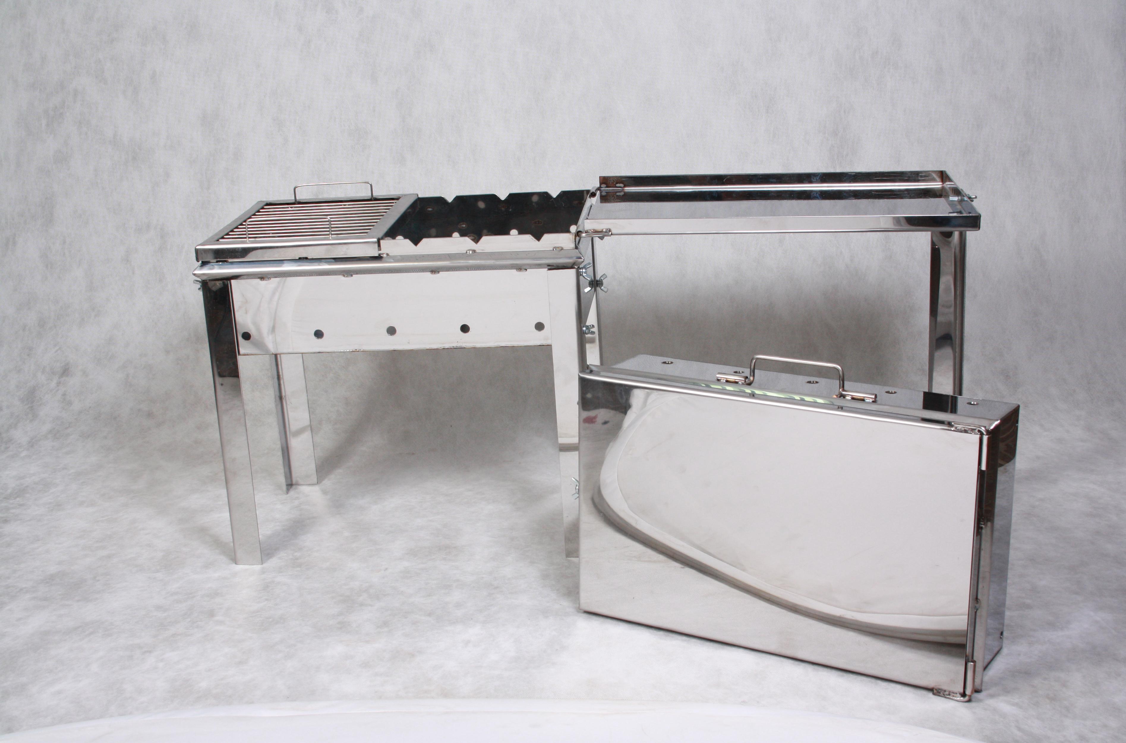 Раскладной мангал-чемодан и мангал-дипломат из металла 94